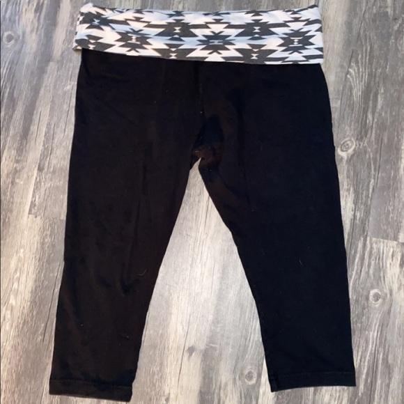 Fold over waist yoga pants